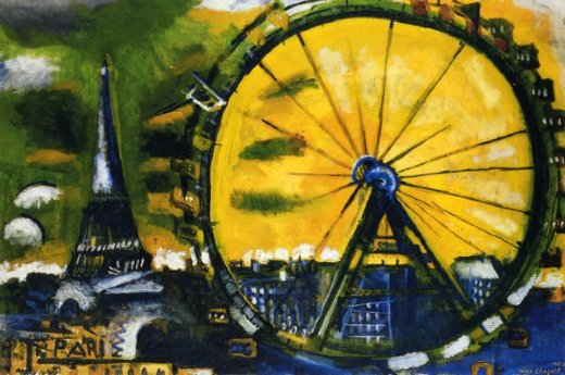 marc chagall la grande roue paintings