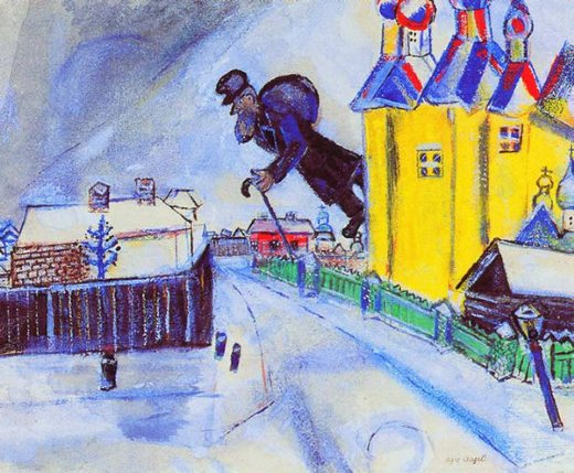 marc chagall over vitebesk painting