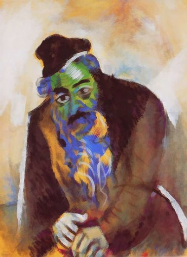 marc chagall the old jew posters