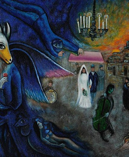 marc chagall the wedding candles 1945 paintings