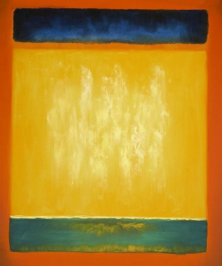 mark rothko untitled blue yellow and green on red painting