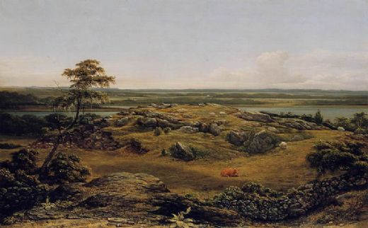 martin johnson heade rocks in new england painting