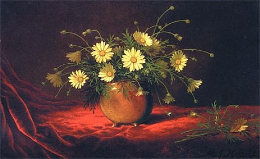 martin johnson heade yellow daisies in a bowl paintings