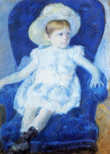 mary cassatt elsie in a blue chair painting
