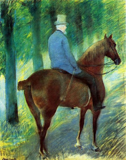 mary cassatt mr. robert s. cassatt on horseback painting