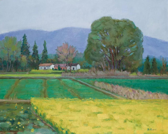 molici originals landscape The village is green again 2015 paintings