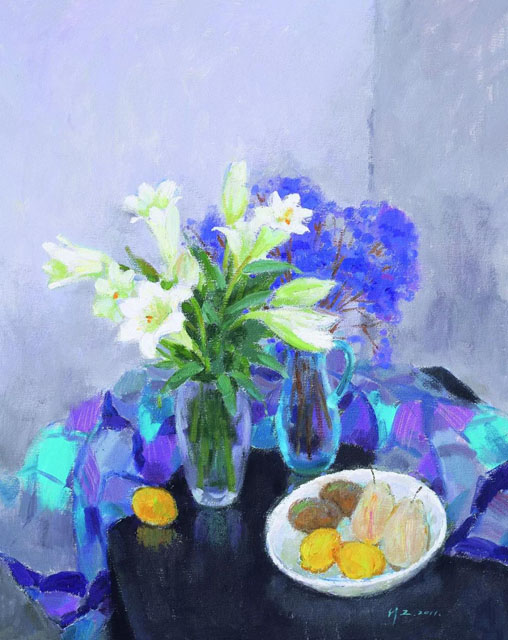 molici originals still life flowers and fruits 2011 painting