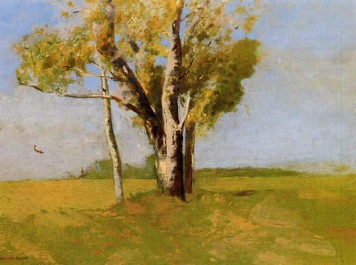 odilon redon trees painting