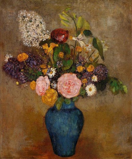 odilon redon vase of flowers v painting