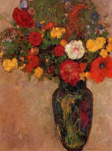 odilon redon vase of flowers vii painting