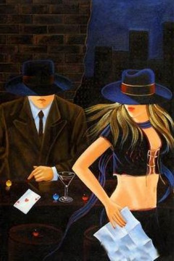 original paintings a fair lady and a gentleman paintings