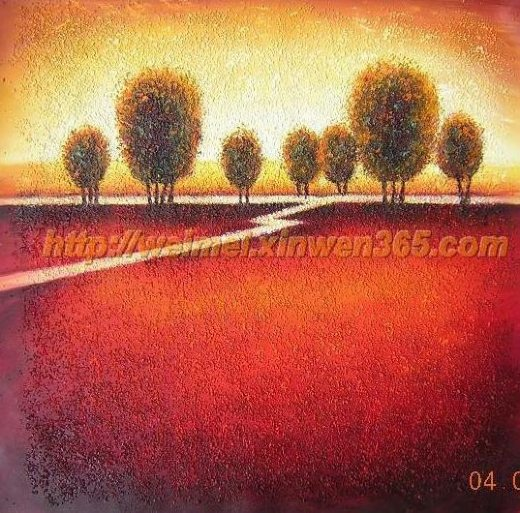 original paintings highroad by a reddish field paintings