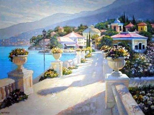 Original paintings mediterranean scenery gallery painting for Original artwork for sale online