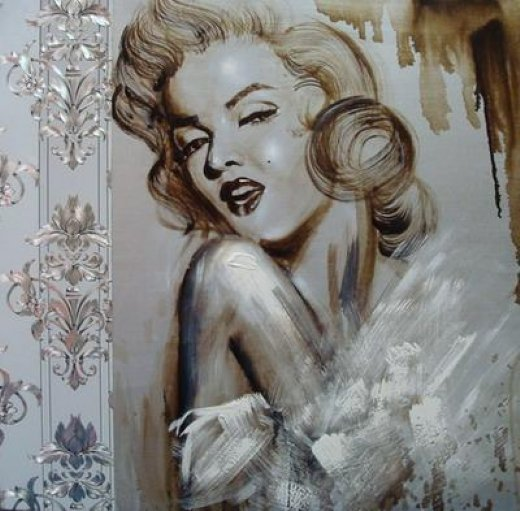 original paintings portrait of marilyn monroe 2 posters