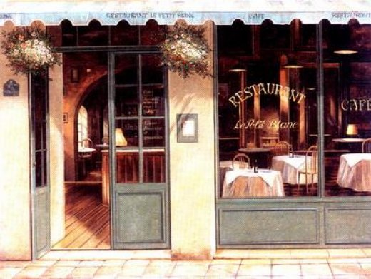 original paintings restaurant posters