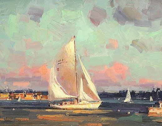 original paintings sailing boat painting