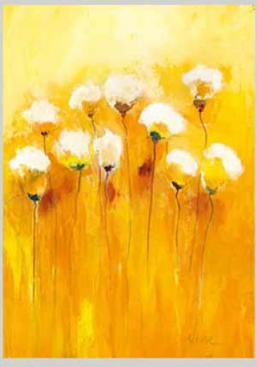original paintings some yellow and white flowers painting