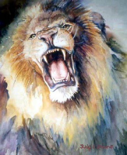 original paintings the head of roaring lion painting