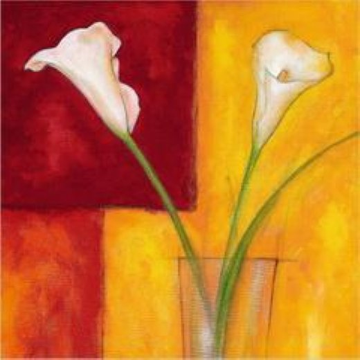 original paintings two white flowers in a glass oil painting