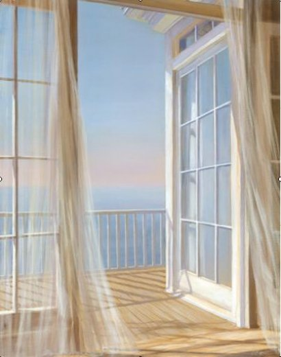 original paintings view of the sea from the window paintings