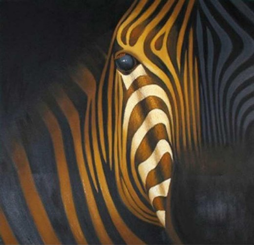 original paintings zebra painting