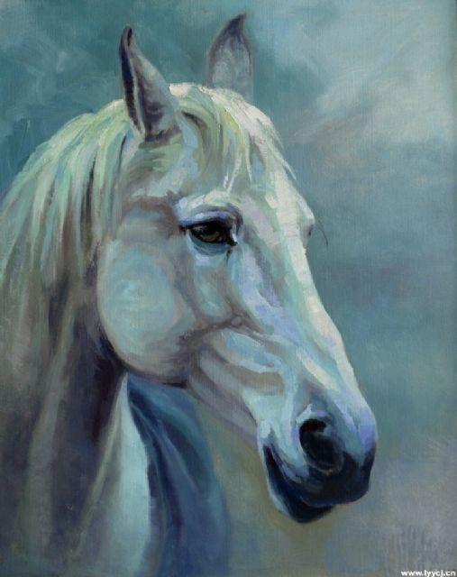 original a horse 2 oil painting