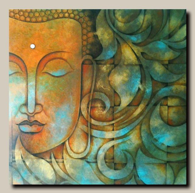 original abstract buddha oil painting