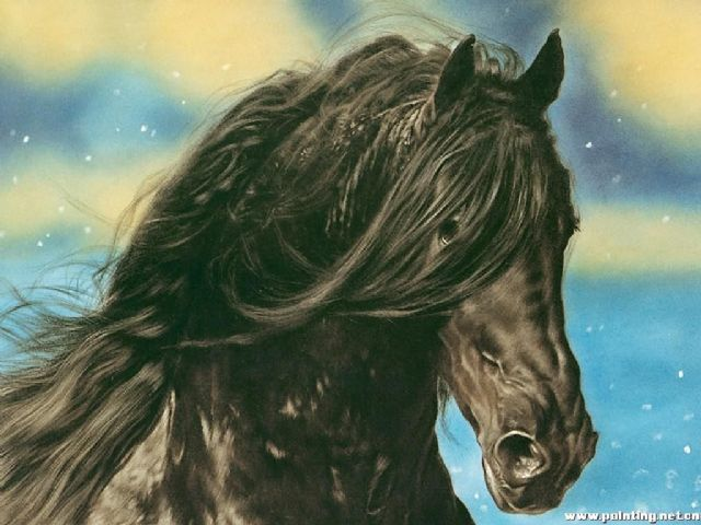 original horse 3 oil painting