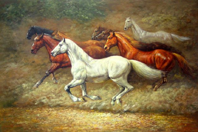 original horses 7 paintings