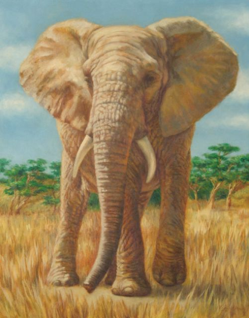 original one elephant paintings