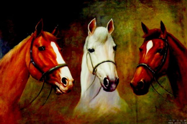 original three horses 2 painting