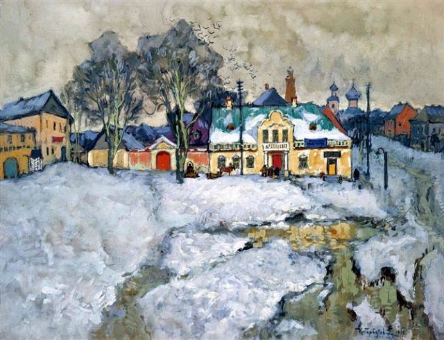 original   winter russia 13 painting