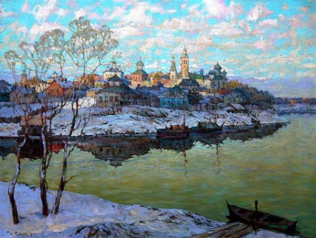 original   winter russia 14 painting