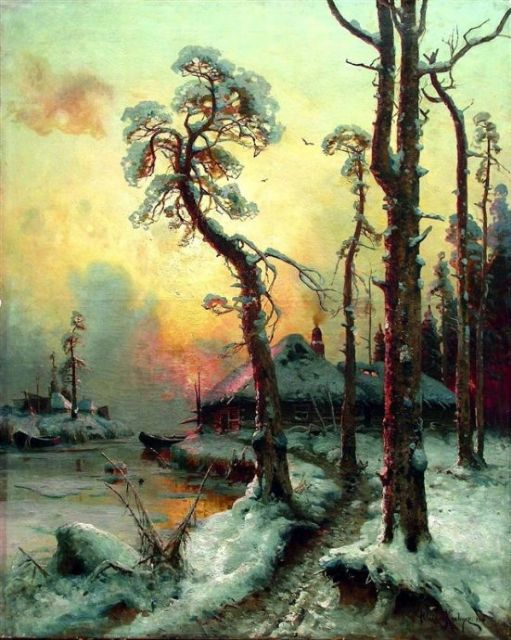 original winter russia 28 paintings