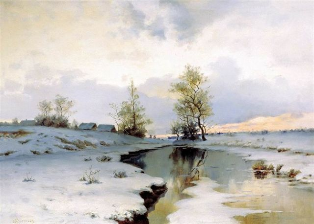 original   winter russia 40 painting
