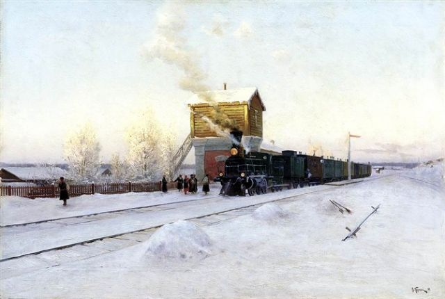 original   winter russia 44 painting