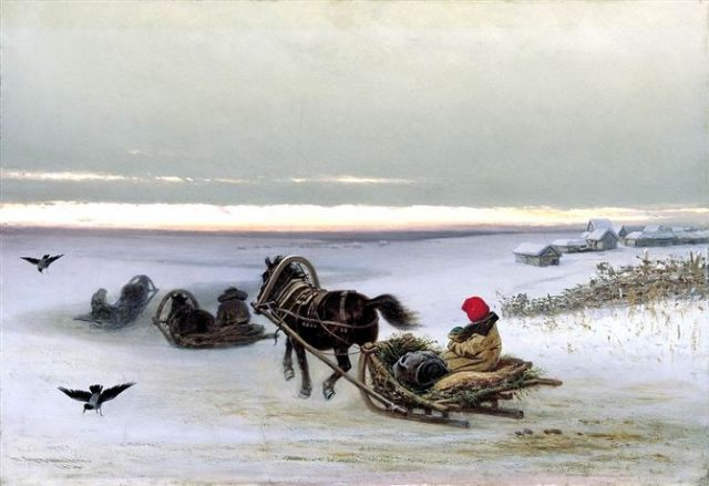 original   winter russia 45 painting