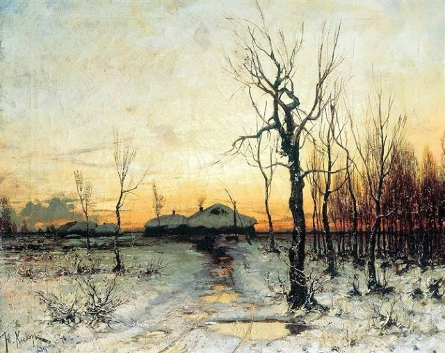 original   winter russia 5 painting