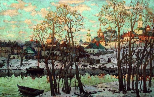 original   winter russia 8 painting