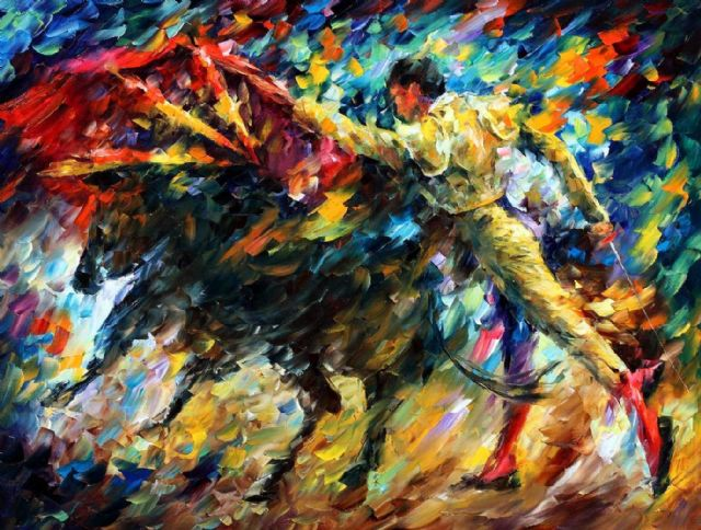 original abtract corrida 2 painting