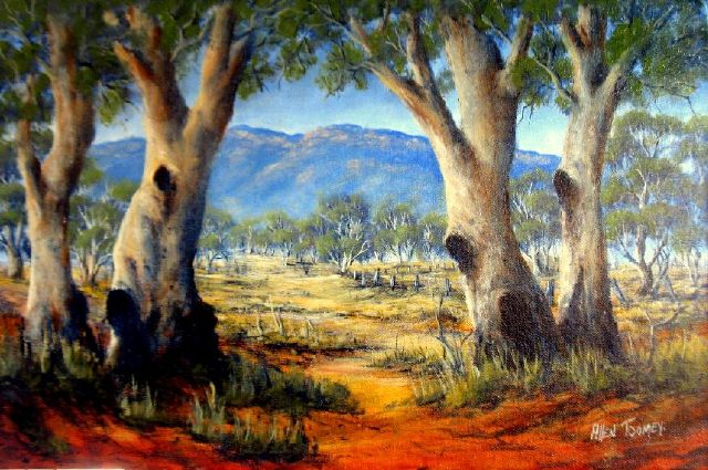 original australia trees painting