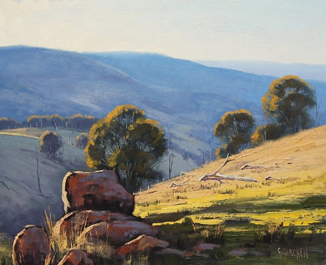 original australian mountain landscape painting