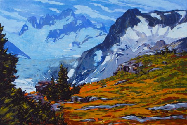 original canada side of the spire bugaboos paintings