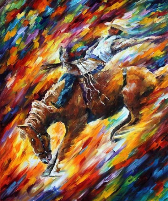original horse rodeo dangerous games paintings