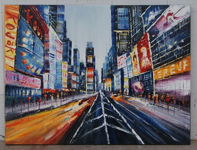 original modern new york city landscape 1 oil painting