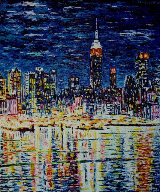 original modern new york city landscape painting