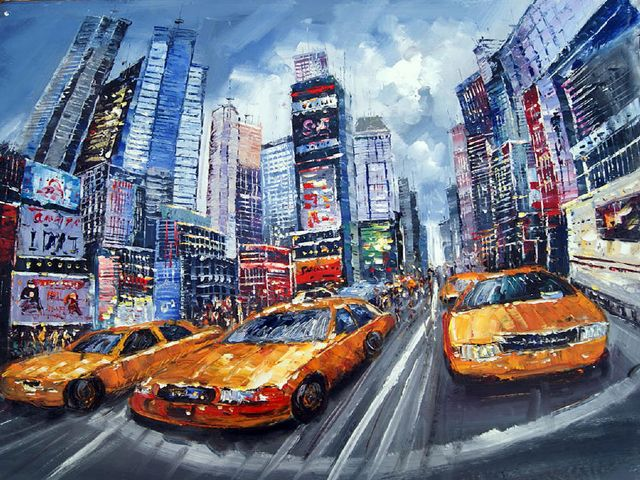 original modern new york landscape 2 painting