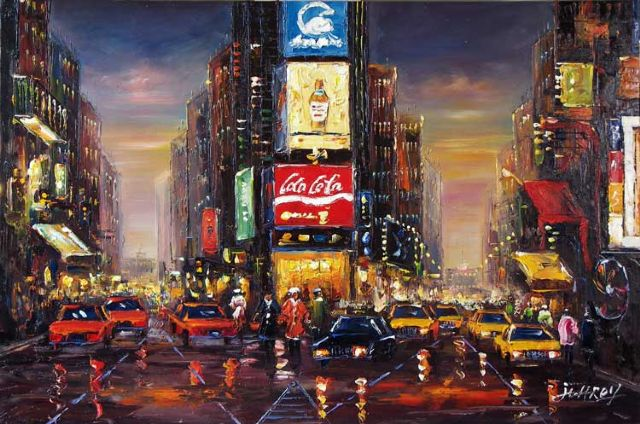 original modern new york landscape painting