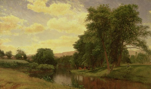 original new england landscape aaron draper shattuck paintings