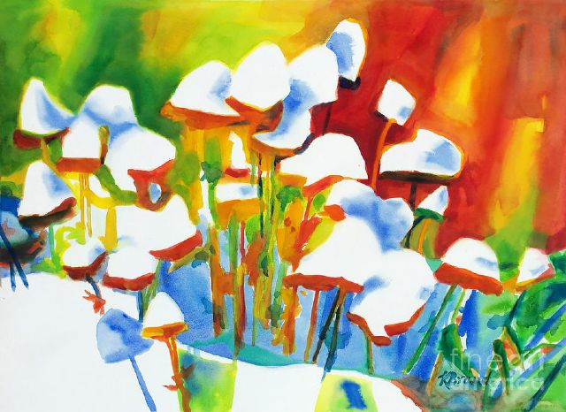 original opposites attract canada flowers painting